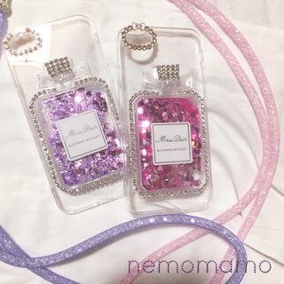 iphone7 香水型ケース パープル