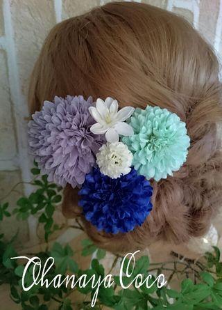 ポンポンマム 和装髪飾り5点Set No189