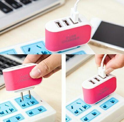 3ポート USB 充電器 ACアダプター 急速充電
