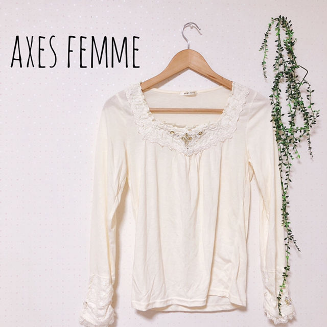 axes femme ビジューカットソー 姫系(axes(アクシーズ) ) - フリマアプリ&サイトShoppies[ショッピーズ]
