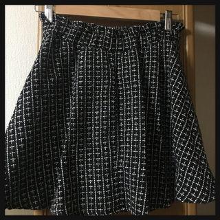 【処分価格!!】ツイードフレアスカート