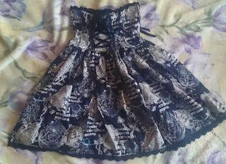 BABY AP グリモワール柄のコルセットスカート