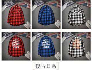 anti social clubシャツ メンズ an-01