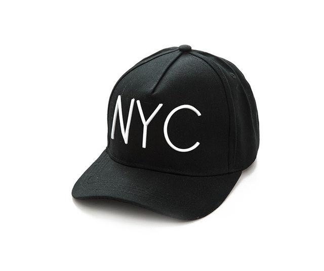 ブラック× 白字 NYCキャップ韓国ファッション - フリマアプリ&サイトShoppies[ショッピーズ]