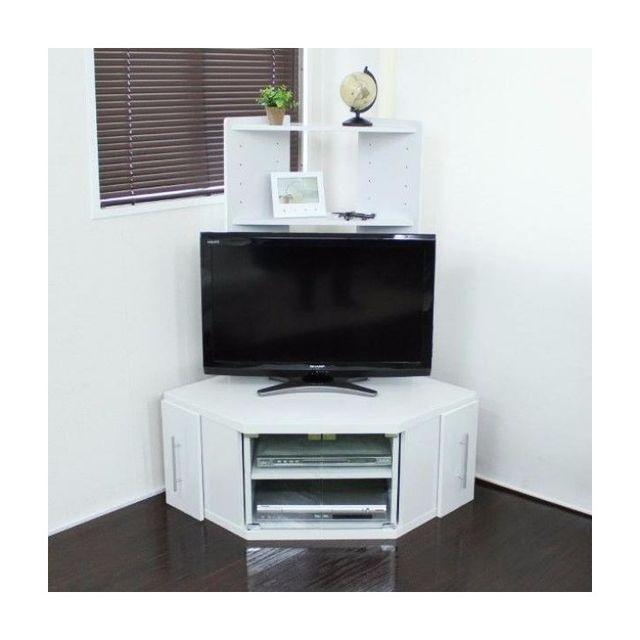 テレビ台 コーナー ハイタイプ 大型液晶テレビ  ホワイト