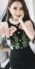 モデルさんも多数着用花柄刺繍ワンピース結婚式二次会