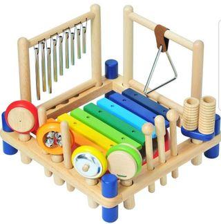 I'M TOY ミュージックステーション 木製楽器おもちゃ