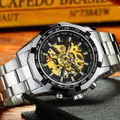 4新品箱付きフルスケルトン自動巻き 機械式 腕時計
