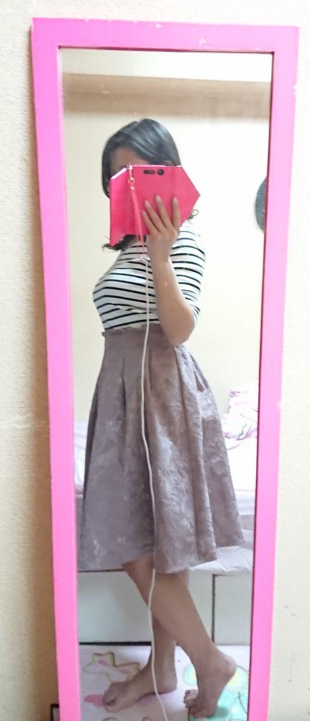 花柄レース フレアスカート