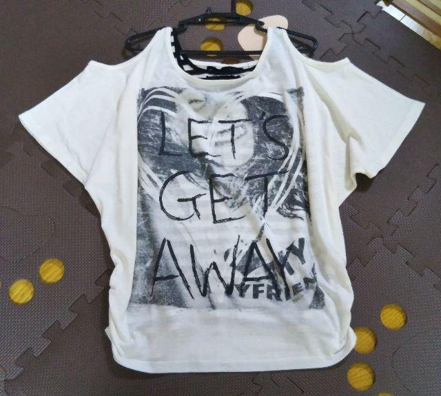 肩出しTシャツ&ボーダータンク - フリマアプリ&サイトShoppies[ショッピーズ]