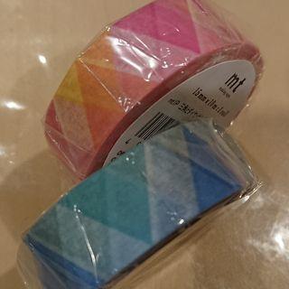 mt!さんかくとダイヤマスキングテープ!ピンク&ブルー