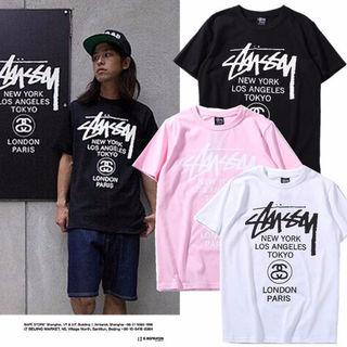 STUSSY  2枚セット 男女兼用Tシャツ 新作人気