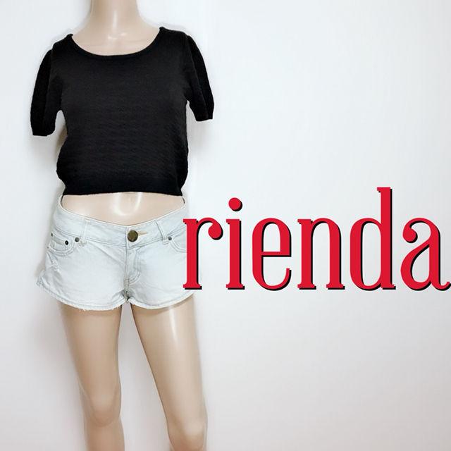 いつでもリエンダ やわらか 半そでニット(rienda(リエンダ) ) - フリマアプリ&サイトShoppies[ショッピーズ]