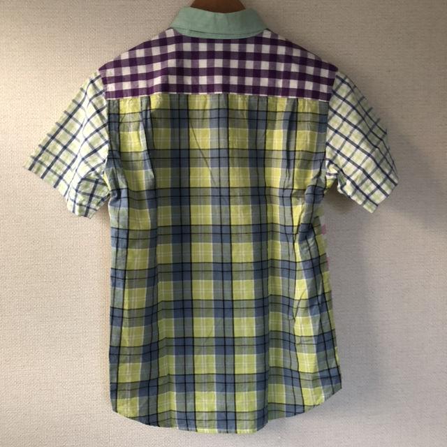 X-LARGE エクストララージ 切替チェック 半袖シャツ