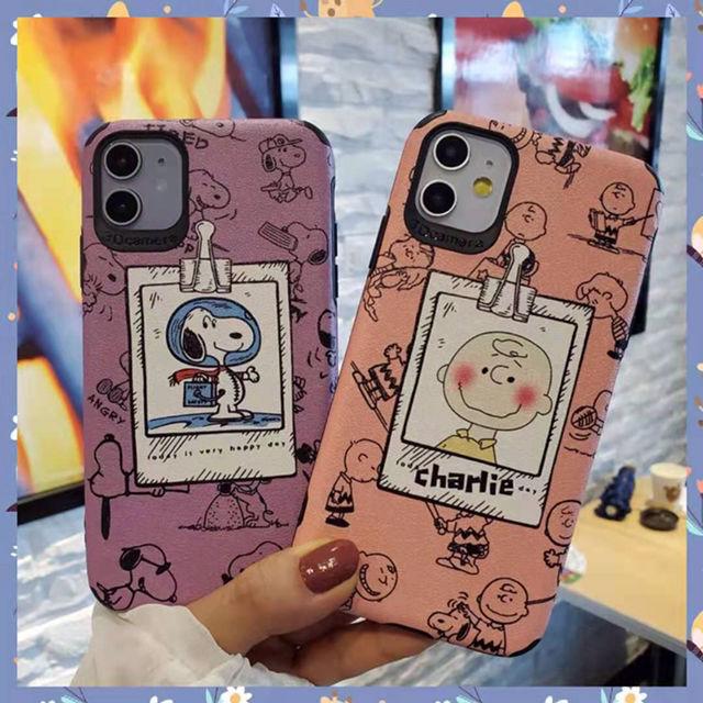 iPhone Huawei スヌーピー シルク模様 ケース