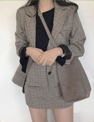 新品 韓国ファッション  ジャケットコーデセットアップ
