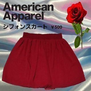AmericanApparel シフォンスカート