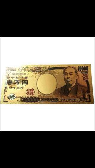 純金箔風 一万円札