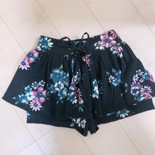 キュロット 花柄 スカート