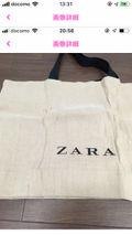 ZARA ジュートバッグ