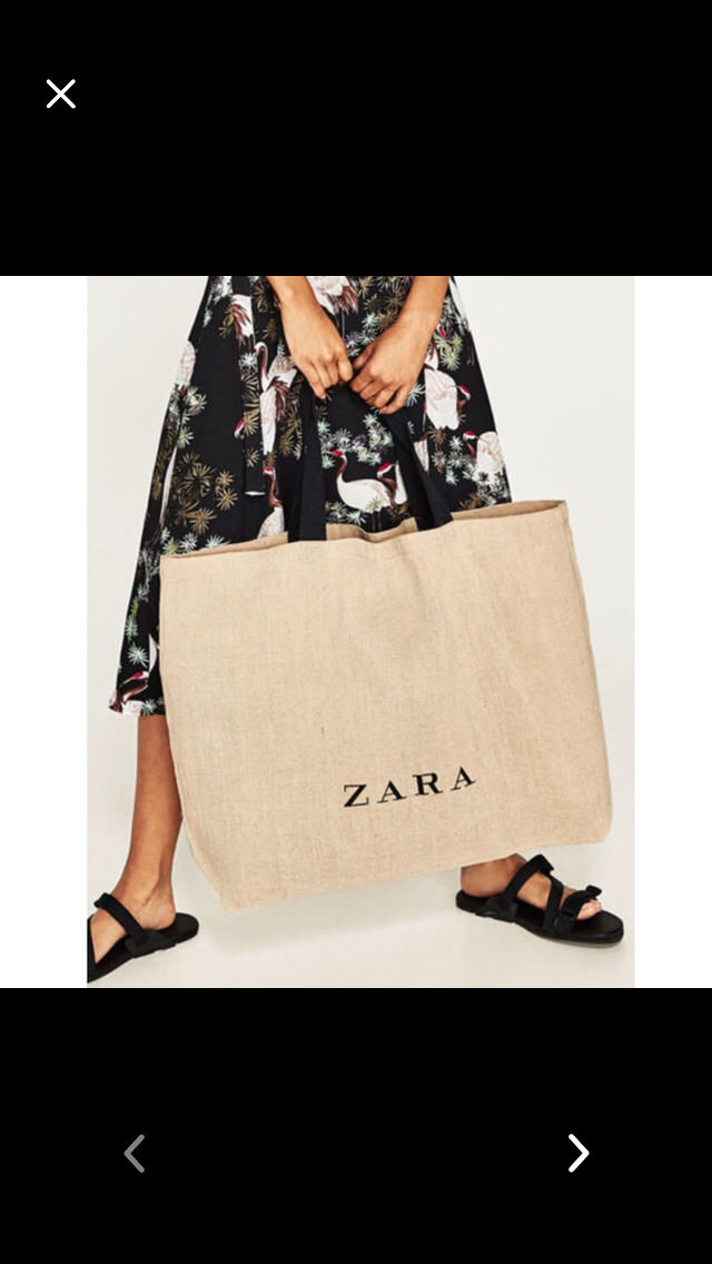 ZARA ジュートバッグ(ZARA(ザラ) ) - フリマアプリ&サイトShoppies[ショッピーズ]