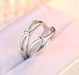 czジルコニア 指輪 ペアリング フリーサイズ