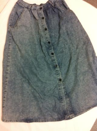 スピンズのデニムロングスカート