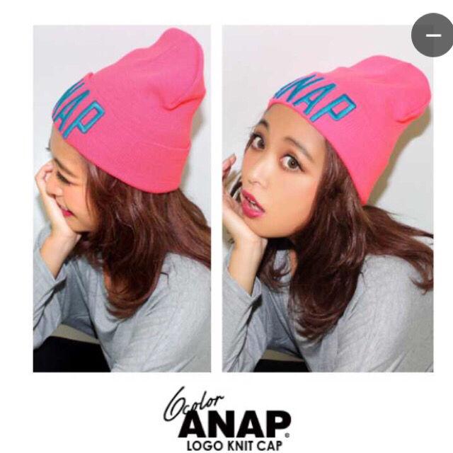 ANAP/ニット帽/原色/ギャル(ANAP(アナップ) ) - フリマアプリ&サイトShoppies[ショッピーズ]