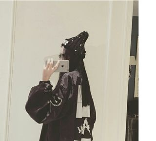 レディース ジャケット MA-1 韓国ファッション ブラック