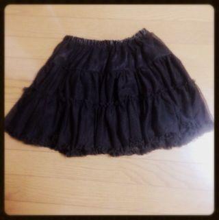 シフォン生地スカート