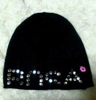 ALBA ROSA鋲打ちロゴハイビニット帽 ニットキャップ