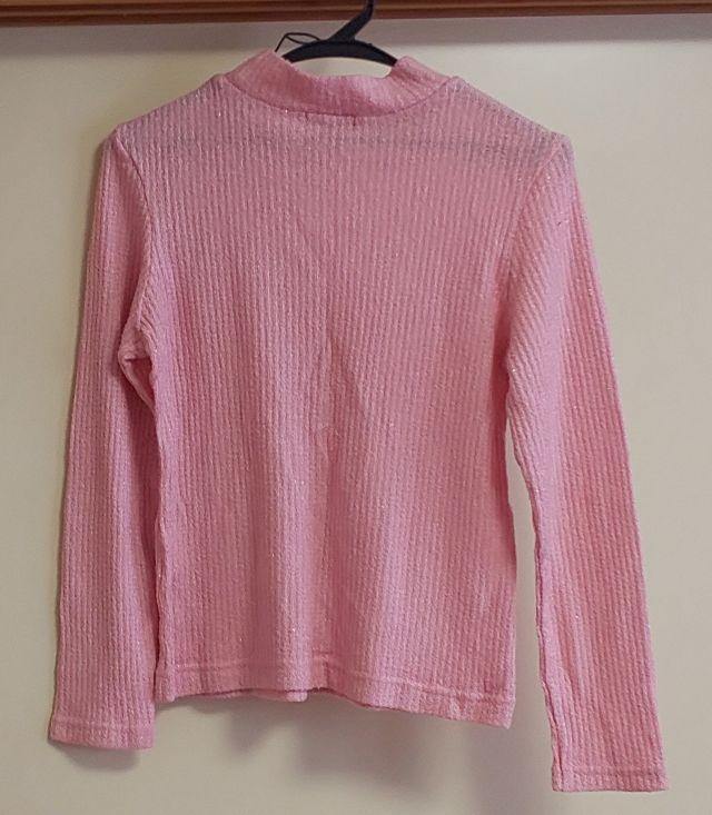ラメ入りピンク のセーター