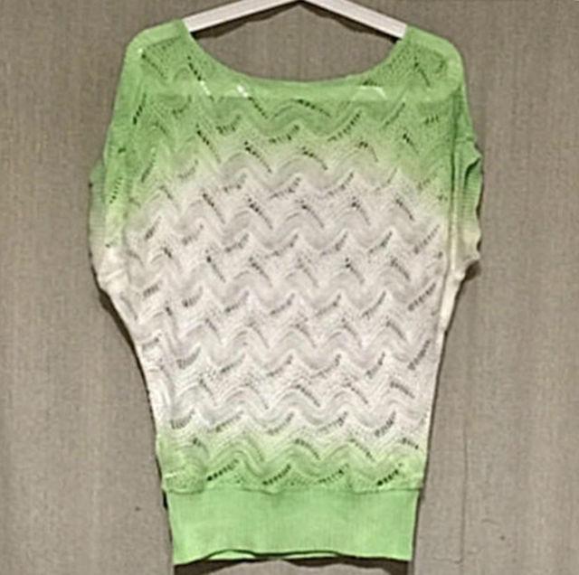 PARK GIRL透かし編みグラデーションサマーセーター