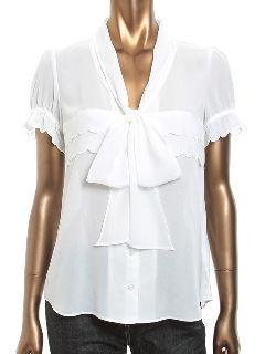 kariang半袖ブラウスホワイト美品