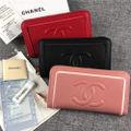 CHANEL 人気美品 可愛いジッピー財布 3色