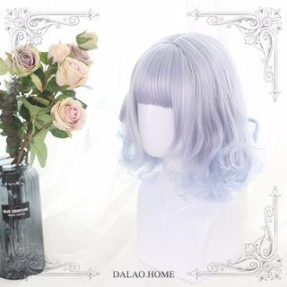 ブルー「Lilith」lolita かつら ネット カール