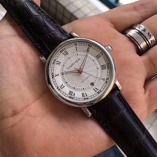 カルティエ 自動巻き腕時計 国内発送 レザー