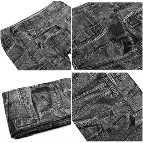 【履き心地抜群◎】デニムパンツ 黒 9分丈 レギンス パンツ