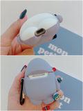 新品人気Air Pods第1第2世代ケースソフトかわいいさめ
