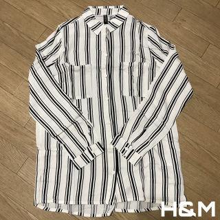 H&M レーヨンシャツ ストライプシャツ