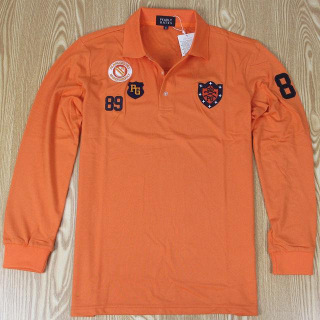 PEARLYGATESパーリーゲイツ長袖シャツオレンジ色6