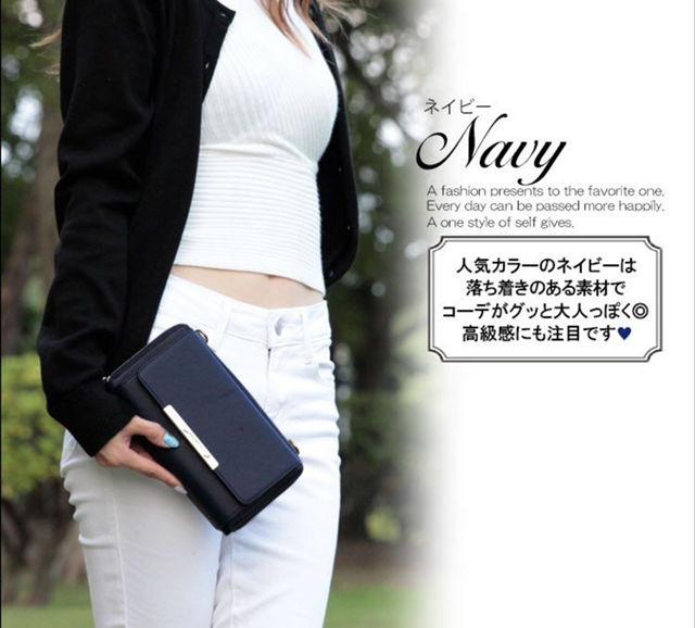 女性らしいキレイめデザイン財布
