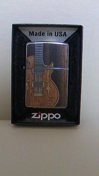 新品未使用、ZIPPOアンティークギター  ライター
