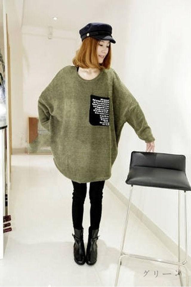 【F】ドルマン袖セーター