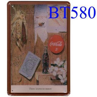 ブリキ看板Coca Cola コカコーラ [BT580]