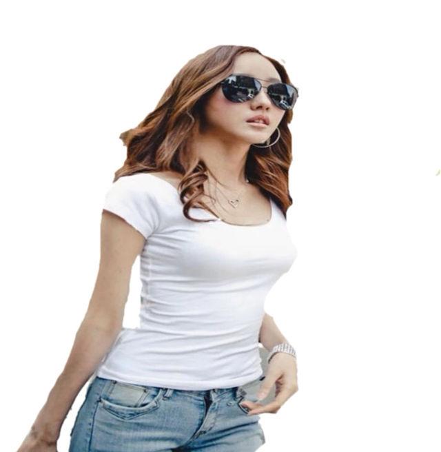 半袖スリムフィットカジュアルTシャツ XXL