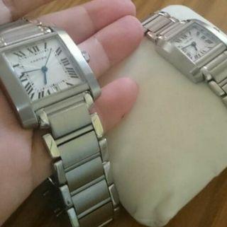 新品未使用カルティエタンク腕時計