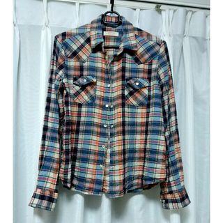 WEGO チェックシャツ ネルシャツ レディース ウィーゴー