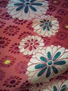 アプリコット総刺繍ナゴヤ正絹帯チョー美品レタP