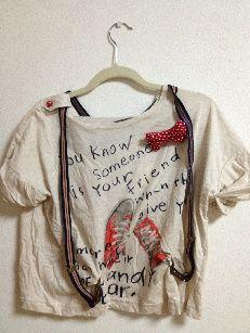 tiptop サスペンダー付き Tシャツ